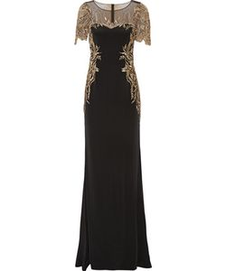 Marchesa Notte | Embroidered Tulle And Silk-Crepe Gown