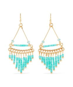 Kenneth Jay Lane | Plated Beaded Earrings