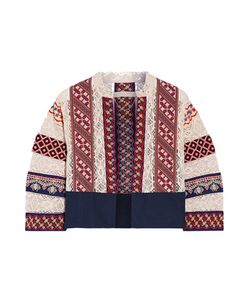 Vanessa Bruno | Echem Embroidered Cotton-Canvas And Crocheted Jacket Off-