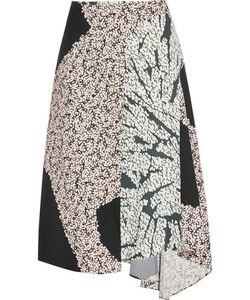 Cédric Charlier | Wrap-Effect Printed Satin-Twill Midi Skirt