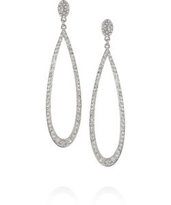 Kenneth Jay Lane | Rhodium-Plated Crystal Earrings