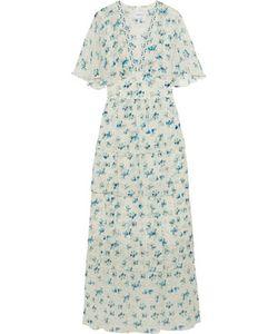 Vilshenko   Rena Printed Silk-Chiffon Maxi Dress Off-
