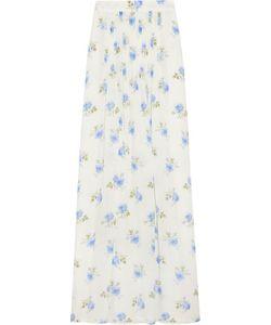 Vilshenko   Jo Printed Pleated Silk-Gazar Maxi Skirt