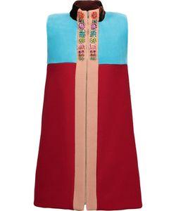 Delpozo   Velvet-Paneled Wool-Blend Crepe Mini Dress