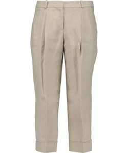 Michael Kors Collection   Pleated Linen Culottes