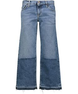 Simon Miller   Thomas Mid-Rise Cropped Frayed Bootcut Jeans Mid
