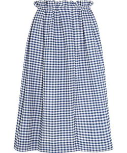 Mother Of Pearl | Grace Gingham Cotton Midi Skirt