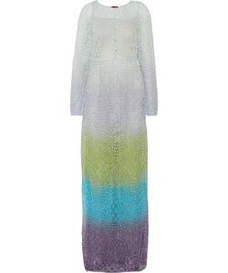 Missoni   Metallic Crochet-Knit Kaftan