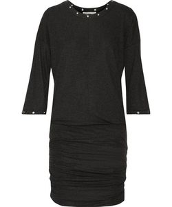 Rebecca Minkoff | Ori Embellished Ruched Ribbed Stretch-Jersey Mini Dress