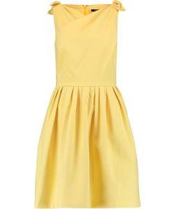 Raoul   Jeanette Bow-Embellished Pleated Cotton-Poplin Mini Dress