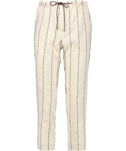 Brunello Cucinelli   Embellished Stretch-Silk Tapered Pants