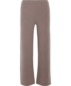 Allude | Cropped Cashmere Wide-Leg Pants