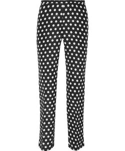 Rochas | Printed Cotton And Silk-Blend Faille Slim-Leg Pants