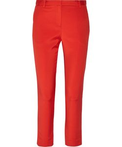 Tibi | Cropped Stretch-Faille Tapered Pants