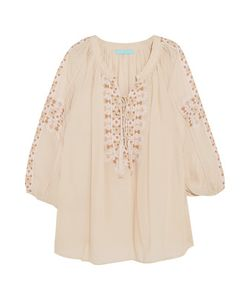 Melissa Odabash | Avalon Embroidered Voile Top
