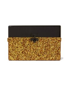 Edie Parker | Small Trunk Glittered Acrylic Box Clutch