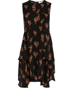 A.L.C. | A.L.C. Frances Asymmetric Print Silk-Crepe Mini Dress