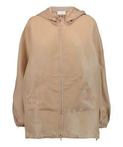3.1 Phillip Lim | Iris Mesh-Paneled Silk-Gazar Hooded Jacket