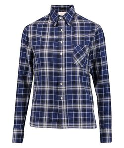R13 | Pin-Embellished Checked Cotton-Blend Shirt