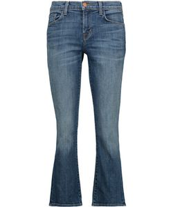 J Brand | Selena Mid-Rise Cropped Bootcut Jeans