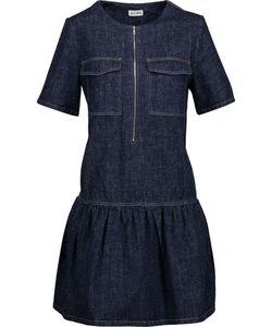 Suno | Pleated Slub Denim Mini Dress