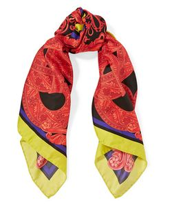 Versace | Printed Silk-Satin Twill Scarf