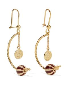 Carolina Bucci | Carnevale 18-Karat And Enamel Earrings One