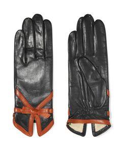 Agnelle | Bow-Embellished Leather Gloves