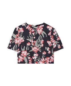 Jonathan Saunders | Bibbi Cropped Floral-Print Twill Top