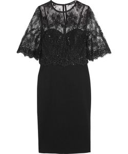 Catherine Deane | Layered Lace And Ponte Dress