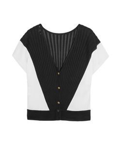 Vionnet | Color-Block Ribbed-Knit Cardigan