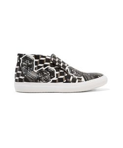 Pierre Hardy | Printed Coated-Canvas Slip-On Sneakers