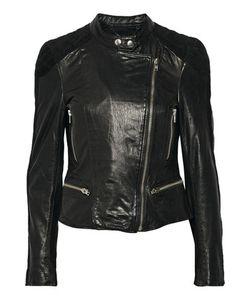Muubaa | Yarra Nubuck-Trimmed Leather Biker Jacket