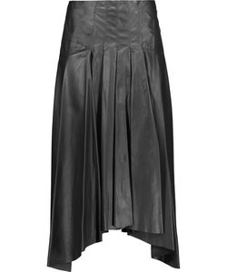 Vionnet | Pleated Leather Midi Skirt