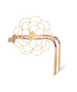 Carolina Bucci | Camelia 18-Karat Gold And Woven Silk Bracelet