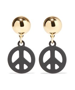 Moschino | Tone And Coated Metal Earrings One Size