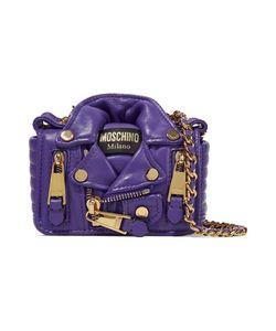 Moschino   Mini Embellished Leather Shoulder Bag