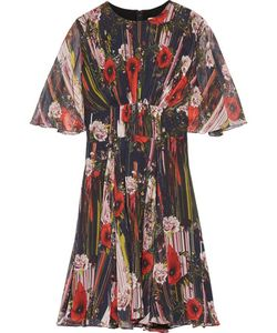 Jason Wu | Pleated Printed Silk-Chiffon Mini Dress