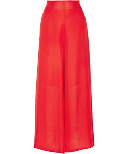 Rosetta Getty | Silk-Chiffon Wide-Leg Pants