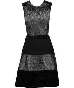 Raoul | Skakira Cutout Paneled Brocade Velvet And Jersey Mini Dress