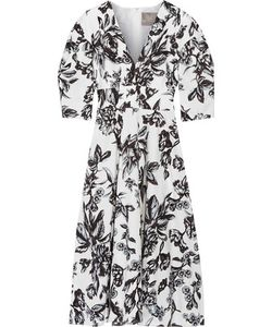 Lela Rose | Print Cotton Dress