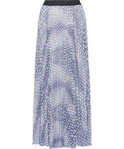 Enza Costa | Pleated Printed Chiffon Maxi Skirt