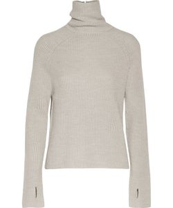 Kaufmanfranco | Ribbed Wool And Metallic Silk Turtleneck Sweater Light