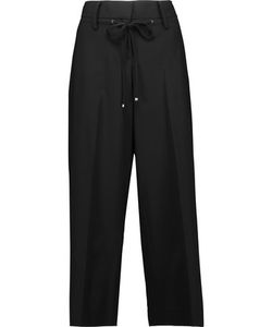 Kaufmanfranco | Cropped Wool-Blend Wide-Leg Pants
