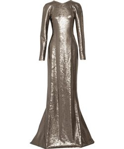 Kaufmanfranco | Sequined Silk-Satin Gown