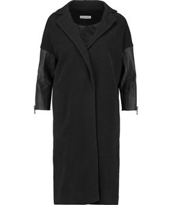 Kaufmanfranco | Leather-Paneled Wool-Blend Coat