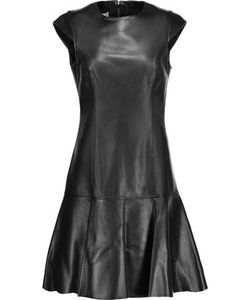 Michael Kors Collection | Pleated Leather Mini Dress