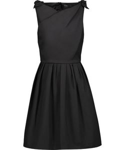 Raoul   Jeanette Bow-Embellished Stretch-Cotton Poplin Mini Dress