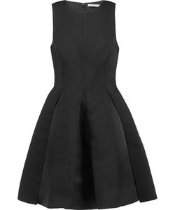 Halston Heritage | Pleated Satin-Twill Mini Dress