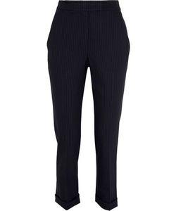 A.L.C.   A.L.C. Benji Cropped Pinstriped Piqué Slim-Leg Pants